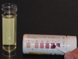 Тест полоски определения ацетона в моче